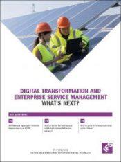 Digital Transformation and Enterprise Service Management White Paper