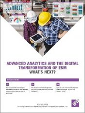 Advanced analytics and the digital transformation of ESM
