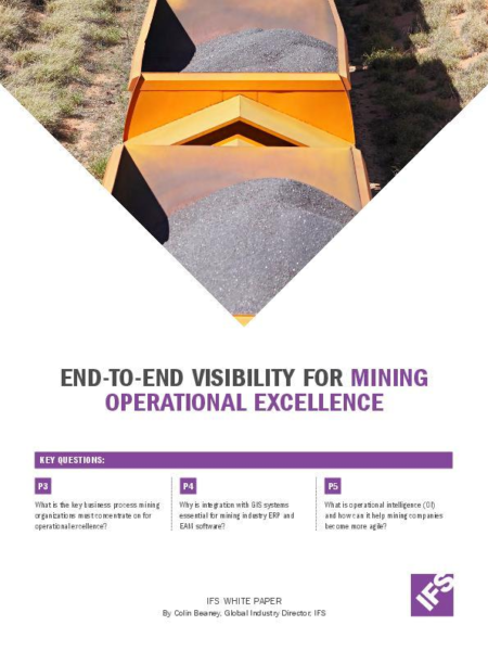 end-to-end visibility for mining operational excellence